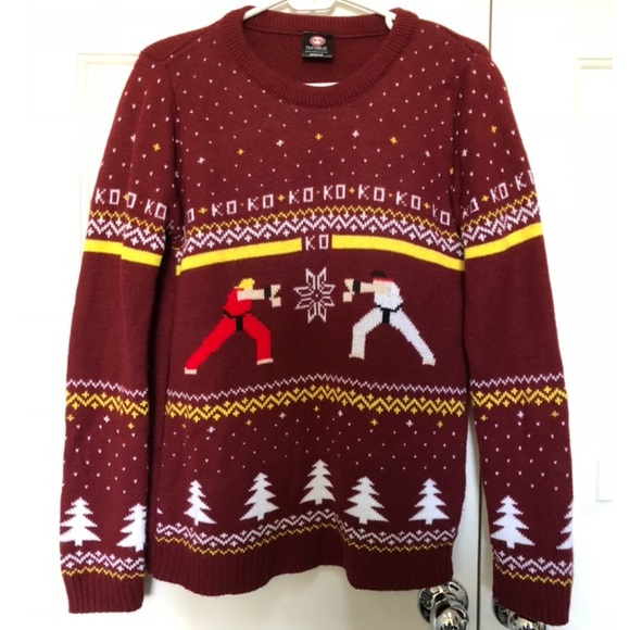 Numskull Other - Street Fighter Ugly Holiday Sweater Sz Small Men